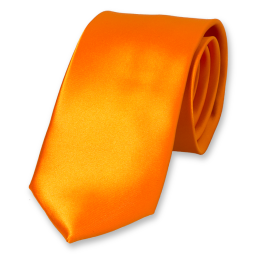 Krawatte Orange - Polyester Satin (1)