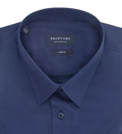 hemd online bestellen profuomo hemd dunkelblau short pointed. Black Bedroom Furniture Sets. Home Design Ideas